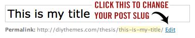 WordPress edit post permalink