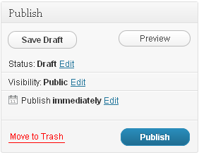 The WP section called Publish on the right of the post editor
