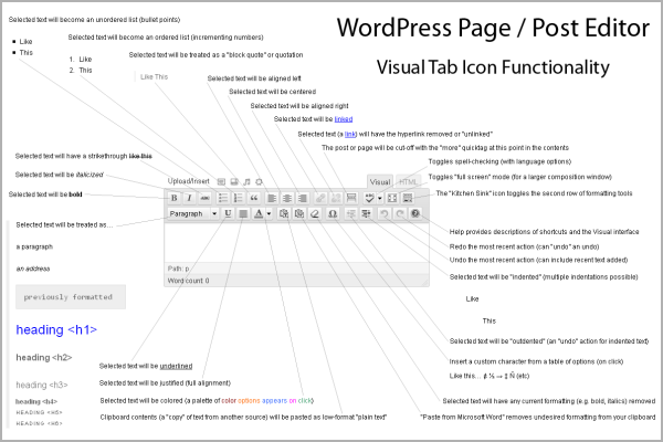 WordPress Infographic – Page and Post Editor – WP Visual Tab
