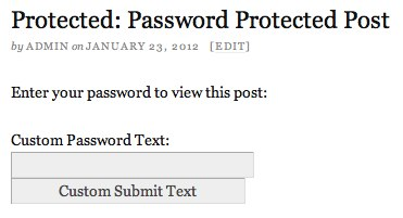 Customized Password Form on Protected Post