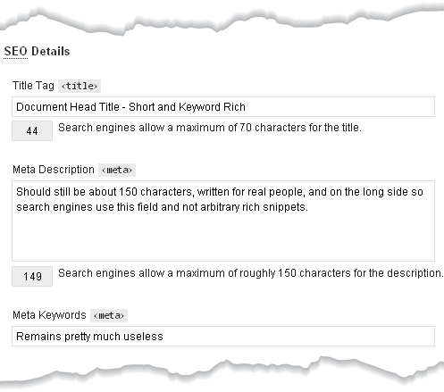Sample Category SEO Thesis Interface Part I
