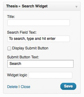 Thesis Search Widget
