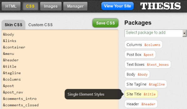 Selecting the CSS Package to Apply a Google Font