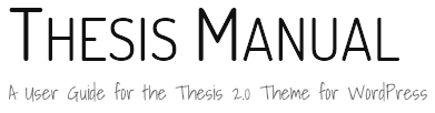 Thesis Site Title and Tagline After Google Fonts