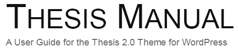 Thesis Site Title and Tagline Before Google Fonts