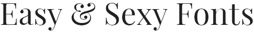 Easy Sexy Fonts