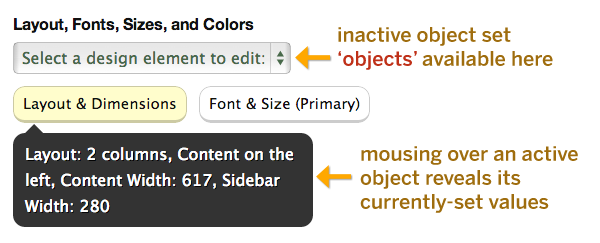 Thesis object option preview