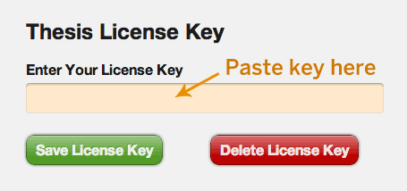 Thesis license key field