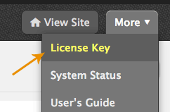 Thesis license key page link
