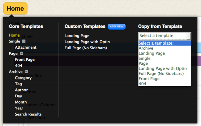 Thesis Skin Editor Template Manager