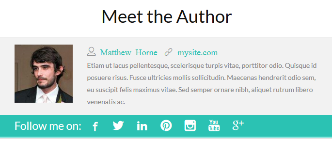thesis author page