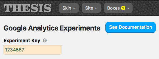 Google Analytics Experiments options
