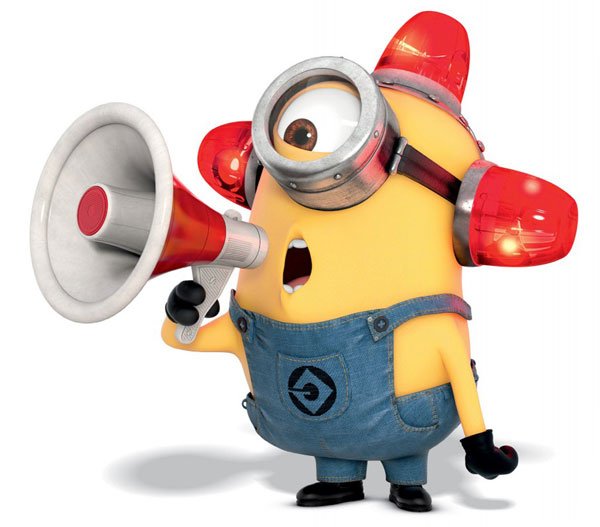 Minion with alarm