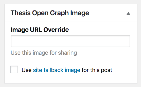 Open Graph Box post options
