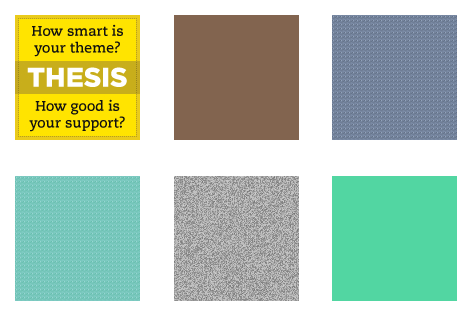 Thesis sidebar background color