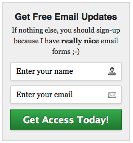AWeber Email Signup Form 1