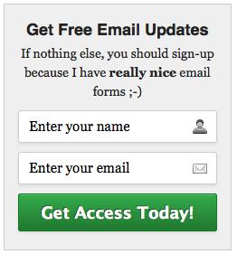 MailChimp Email Signup Form 1