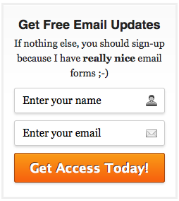 AWeber Email Signup Form 4