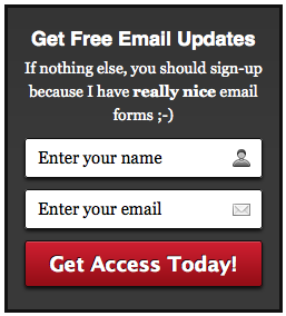 AWeber Email Signup Form 5