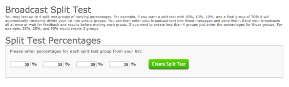 How to Split Test Emails in AWeber
