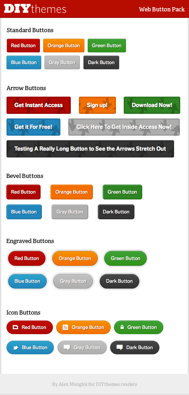 DIYthemes CSS3 Web Buttons