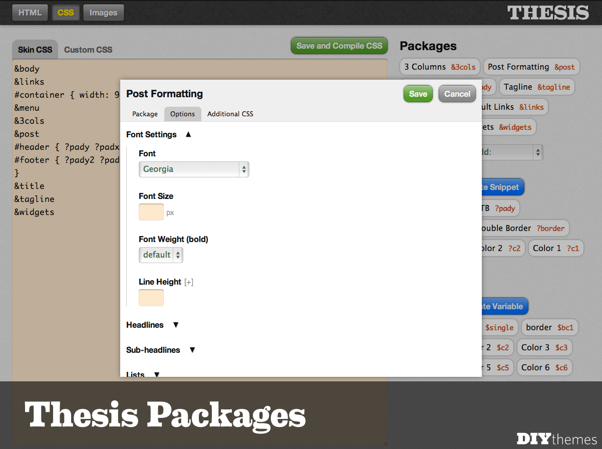 Thesis Package Editor