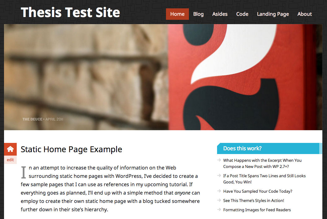 Custom Category Pages Wordpress Thesis