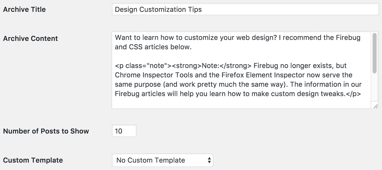 Thesis archive options