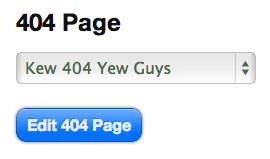 Thesis 404 page selector