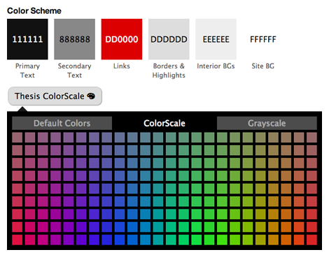 Thesis color scheme picker