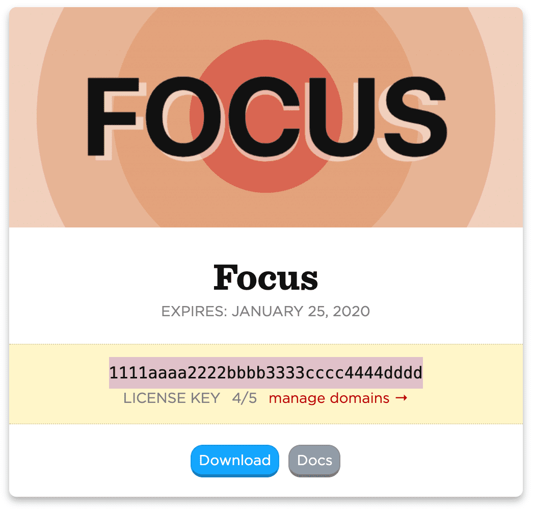 Focus License Key